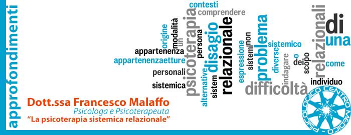 La psicoterapia sistemica relazionale,  parola alla Dott.ssa Francesca Malaffo