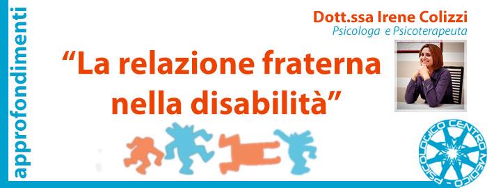 relazione fraterna nella disabilità